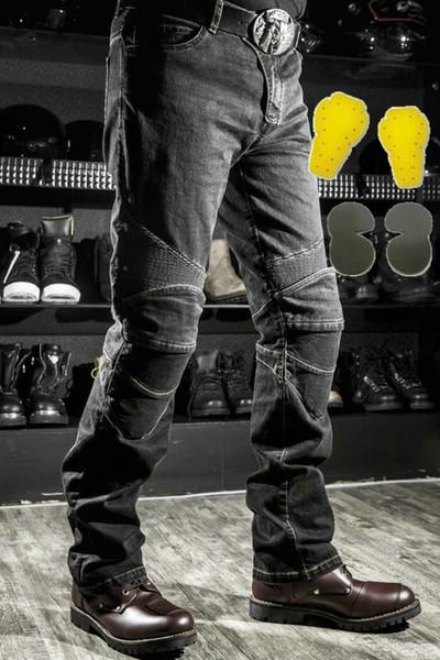 black pants yellow pads