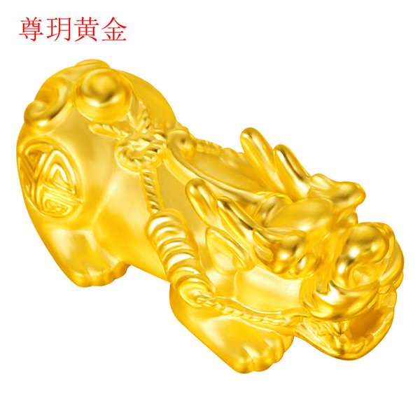 999 gold 3D hard gold Lucky Nafu 24k pure with bracelet necklace factory supply