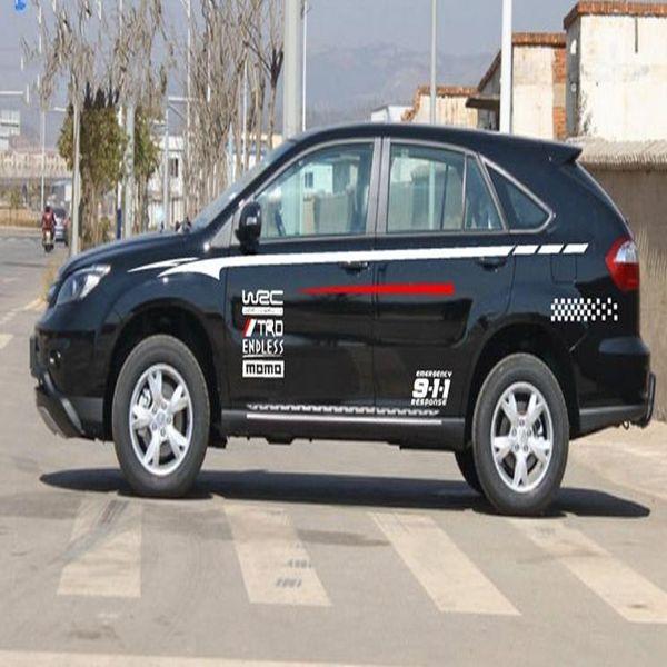 Car Stickers WRC door garland alphabet stickers car modification 2pcs/set
