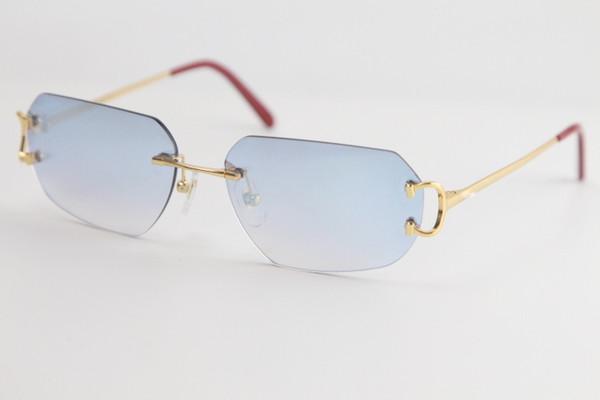 Gold Blue Mirror Lens