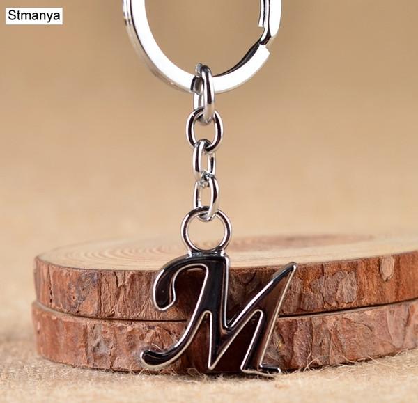 Nuovo Semplice Lettera Diy chiave catena semplici gioielli regalo Uomo Donna Portachiavi Metal Party Lettera Car Holder Portachiavi Nome chiave