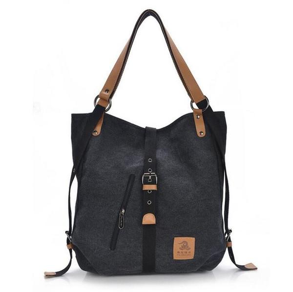 Neue Mode Weibliche Handtasche Dame Mädchen Casual Leinwand Handtasche Schultertasche Multifunktionale Frauen Umhängetasche L4-2475