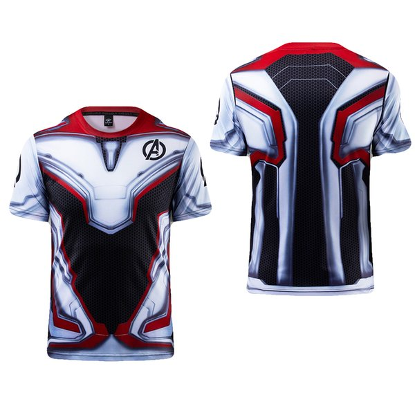 Avengers 4 Quantum Realm T-Shirt Superhero Sport Suit Cosplay Costumes for Adult