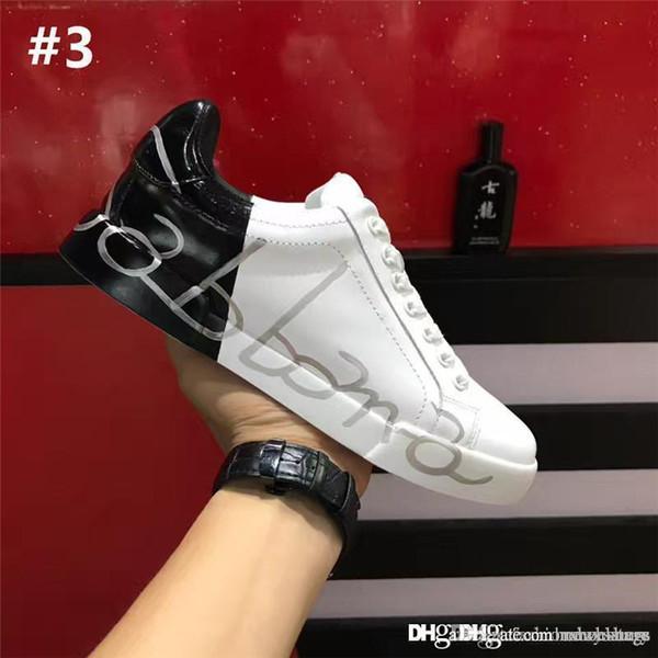 13739bdb7 2018 Alta Qualidade DOLCE GABBANA D.G Portofino Branco Preto Couro Itália  PORTOFINO Sapatos Sneakers Tênis Com