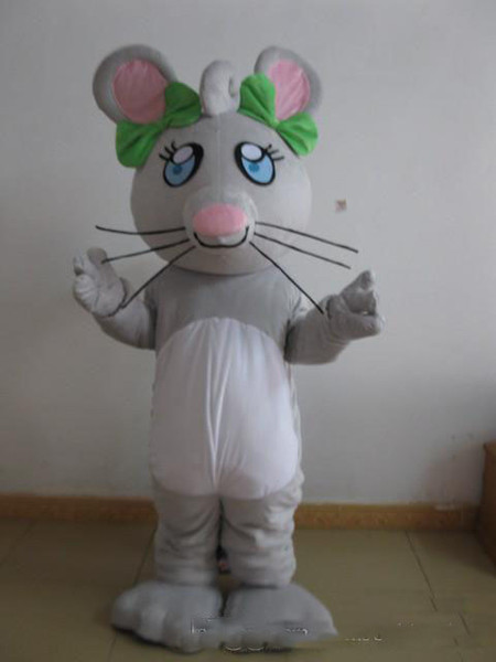 2019 Factory Direct strange plush brown ear funny mouse gray Fancy Dress Mascot Costume Adult Character Costume free shipping