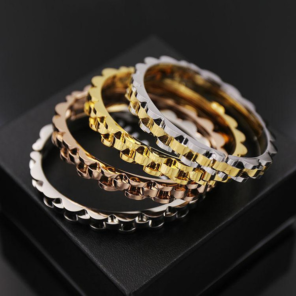 Горячая ближневосточная мода стиль мужская цепочка ремешок из титана стали ювелирные изделия бутик гладкая волна R корона мужской браслет 6,2 см бесплатно