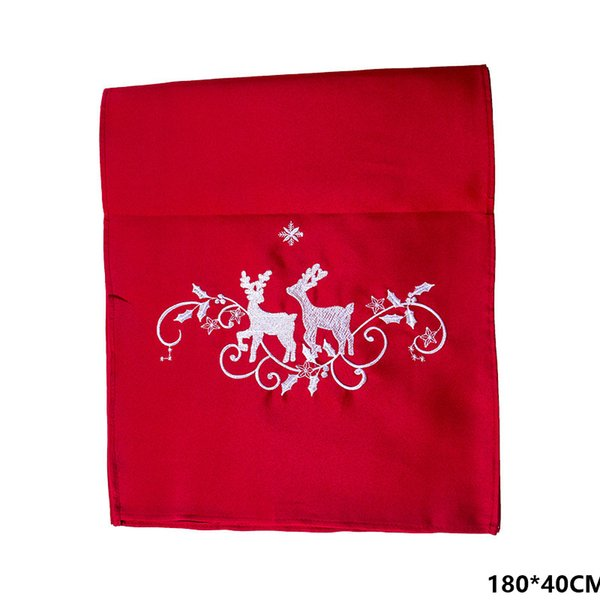 Red Tablecloth Elk