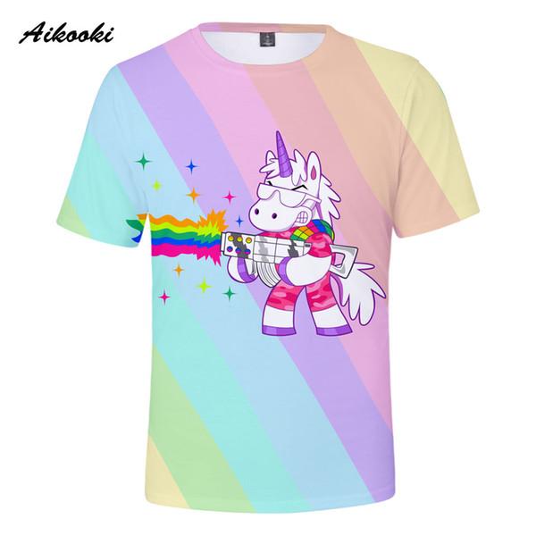 Cute Unicorn 3D t-shirt Men/Women short sleeves Beautiful 3D T Shirts Cotton Summer Pop Fashion Cool T Shirt Tops