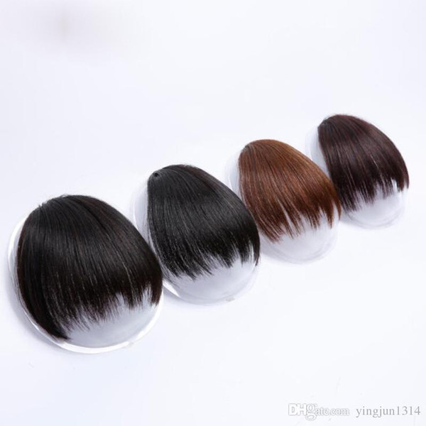 top popular Short Fake Hair Bangs Heat Resistant Synthetic Hairpieces Clip In Hair Extensions for Women Bangs Hairstyles 2019