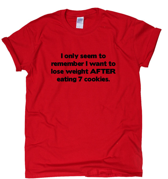 AFTER Eating 7 Cookies funny gym T-shirt womens tee tmens training humour top