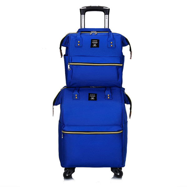 Чемодан из ткани Oxford, нейлоновый чемодан, Fashion Trip Bag, универсальный руль Высококачественная двухсекционная упаковка
