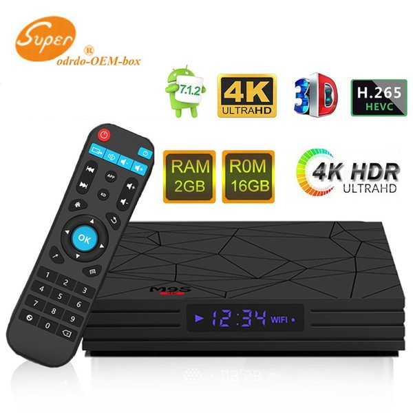 Tv box android 7.1 M9S W5 2GB RAM 16GB ROM Amlogic S905W chip 1080P Youtube free movie Streaming media player 4K IPTV Smart TV BOX