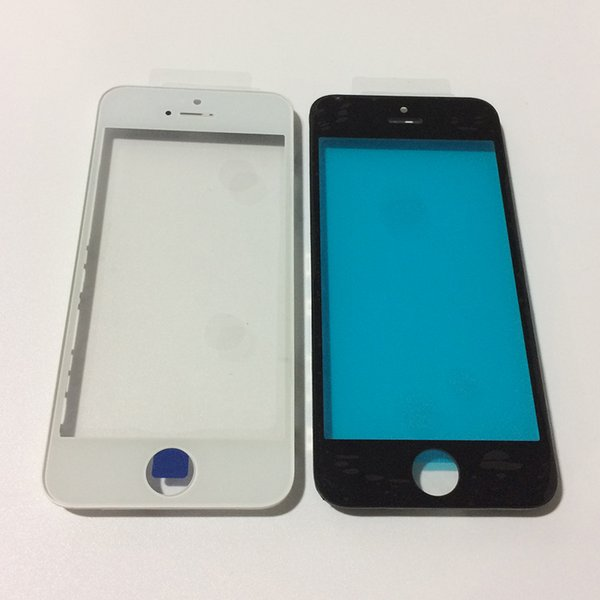 Front Touch Screen Panel Outer Glass Lens with Cold Press Middle Frame Bezel Screen for iPhone 5s