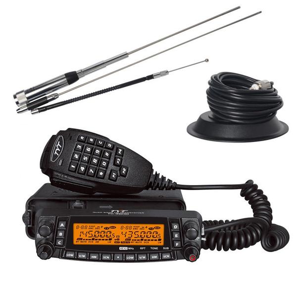 TYT TH-9800 Mobiles Autoradio 50 W VHF UHF-Quad-Band-Walkie-Talkie-LKW, ganzer Satz