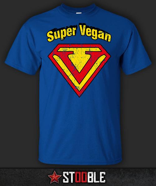 Super Vegan T-Shirt - NewFunny frete grátis Unisex Casual tee presente