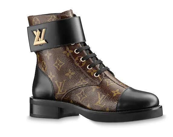 Mulheres Fivela Sapatos Casuais Botas Curtas De Couro De Vaca Marrom Maravilha Botas Do Exército 1a2q3n