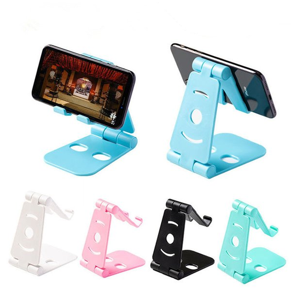 New Phone Plastic Foldable ABS Cellphone Stand Holder Cell Phone Holder Fashion For iPhone 6 7 8 x for Samsung S8 cellphone stand iPad Stand