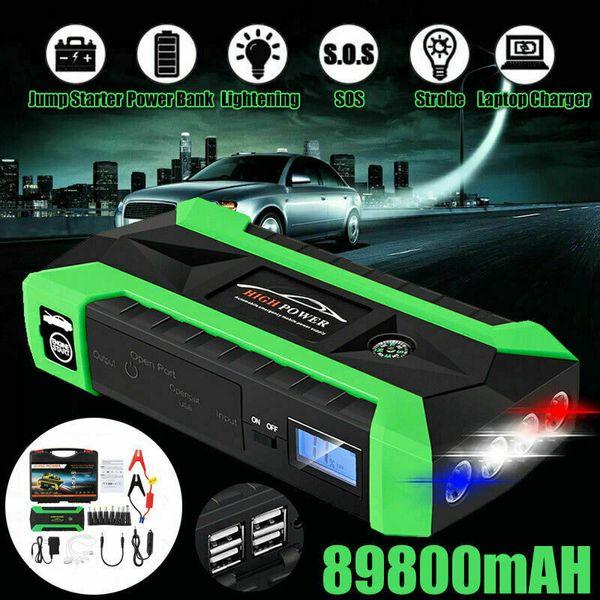 Banque De Puissance De Batterie De Chargeur De D/émarreur De Paquet De D/émarreur De Saut De Voiture Portatif De 89800mAh 4 USB