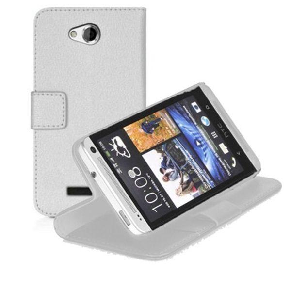 Para HTC Desire 616 estojo de couro carteira estande microsonic navio branco da Turquia HB-002501182
