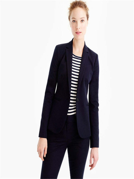 New Design Navy Womens Suits 2 Piece Ladies Work Suit Business Womens Tailored Tuxedos