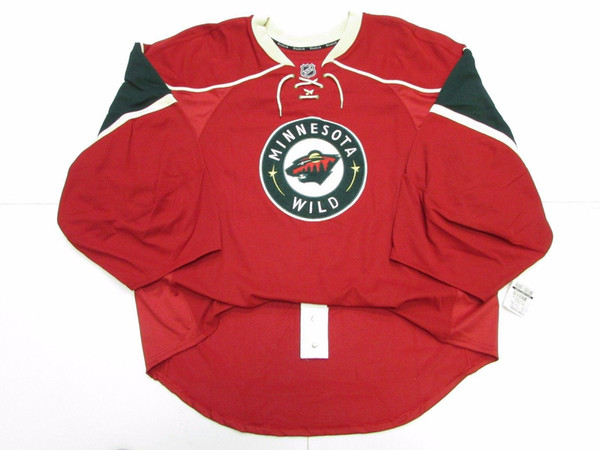 Cheap custom MINNESOTA WILD HOME JERSEY GOALIE CUT 60 stitch add any number any name Mens Hockey Jersey