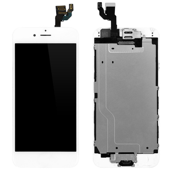 Top Quality For iPhone 6 6s LCD Full Set with Digitizer Bezel Frame+Home Button+Front Camera Complete Assembly & Free Shipping