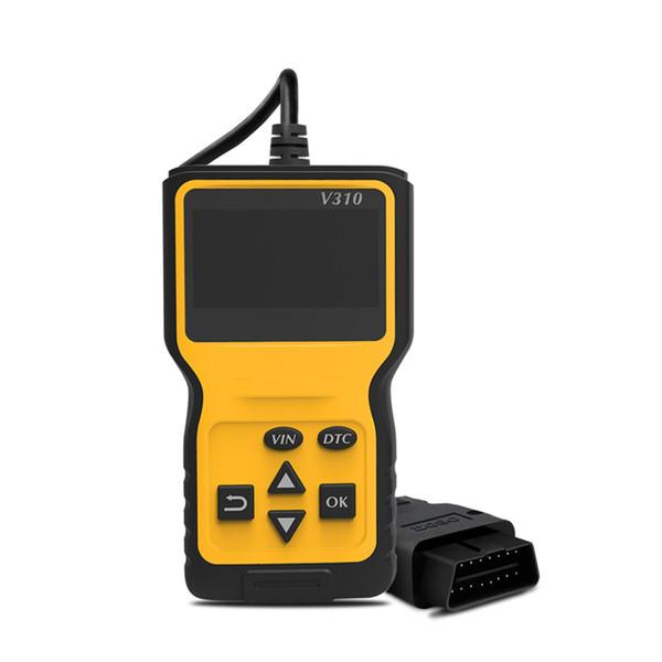 Taşınabilir V310 OBDII Otomotiv Araba Teşhis Tarayıcı Aracı CAN OBD2 Kod Tarayıcı Okuyucu V1.1 İngilizce / Fransızca / İspanyolca / Deutsch