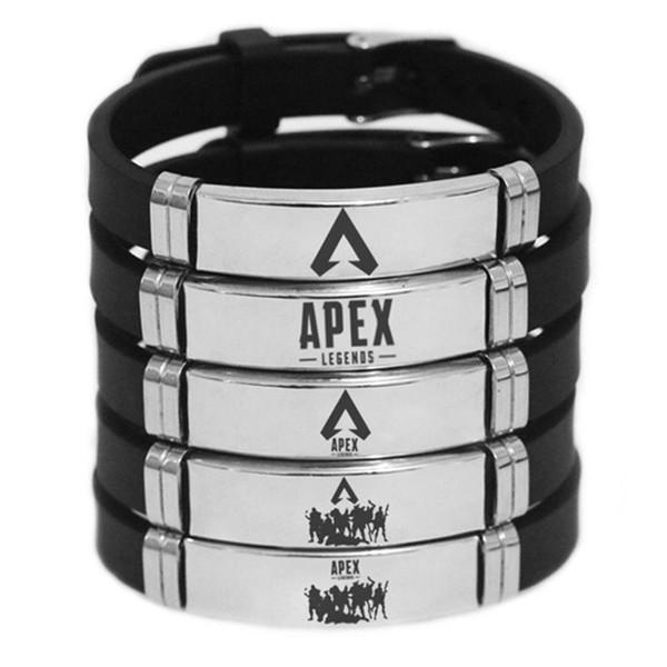 Braccialetti in acciaio inossidabile del gioco del braccialetto di Legends di Apex Regali di modo per il braccialetto degli uomini dei bambini