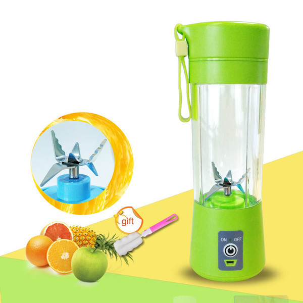 400ml Portable Mélangeur À Jus Usic Presse-Agrumes Coupe Multi-fonction Mélangeur De Fruits Six Lame Malaxeur Smoothies Aliments Pour Bébés Dropshipping C19031101