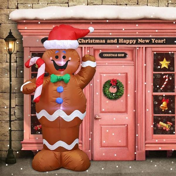 1.5m Gingerbread Man Modeli Şişme Oyuncaklar Noel Bahçe Yard Arch Dekor