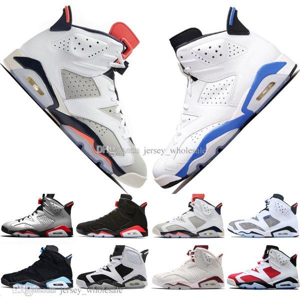 2019 Infravermelho Criados VI 6 6 s Mens Sapatos de Basquete 3 M Refletivo Flint Esporte Azul Preto Gato Baixo Cromo Homens Sapatilha Formadores Formadores Eur 40-47