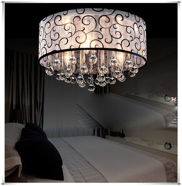 Envío gratis Crystal Ceiling Lamp Dia 40cm Nueva Tela Moderna luz de techo dropwater Hotel Iluminación Salón Dormitorio AL176