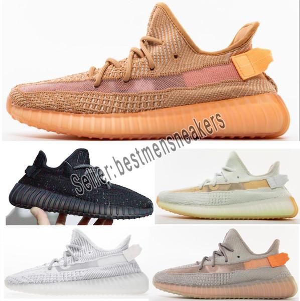 Acheter 2019 Designer Shoes Adidas Yeezy Boost 350 V2 Chaussures De Course  Pour Hommes Et Femmes Baskets Beurre Hyperspace Static True Forme Clay