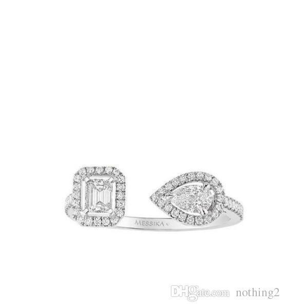 Donna aggancio di cerimonia nuziale Anello di diamanti Designer C'era una donna Shahrazad anello aperto 3 colori gioielli Tempo
