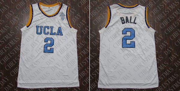 50a6d5e0427 Cheap custom UCLA Lonzo Ball #2 College Basketball Stitched Jersey White  Stitched Customize any name