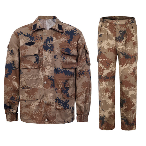 Man Winter Autumn Training Clothes Outfits Camouflage Button Jackets Coats Long Pants 2 PCS Suits Mens Womens Loose Outdoor Clothing Sets