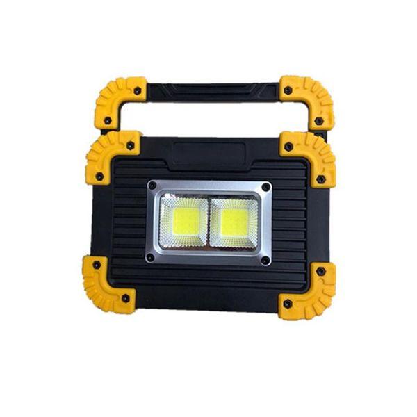 ARILUX 20 W Taşınabilir LED Fener Çift COB LED USB Şarj Edilebilir Kamp Çalışma Sel Işık Açık Projektör