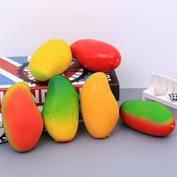 Squishy mango 14cm*8cm*7cm huge Slow Rising Soft Squeeze Cute Cell Phone Strap gift Stress children toys Decompression Toy