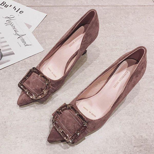 Розовый фиолетовый 5.5 каблук