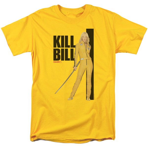 Kill Bill Vol. 1 Movie YELLOW SUIT POSTER Licensed Adult T-Shirt All Sizes Men Women Unisex Fashion tshirt Free Shipping Funny Cool Top Tee
