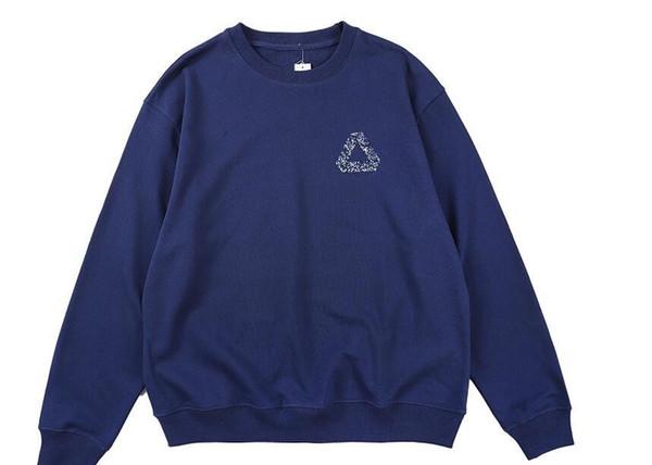 triángulo clásica camiseta para hombre pullover impresión famosos palacios hombres de la marca de moda de lujo suéter de las mujeres de alta calidad de la calle suéteres de tendencia