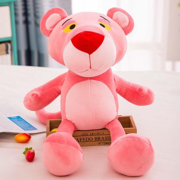 La peluche rosa della bambola della bambola dei pp degli animali farciti della pantera gioca i giocattoli farciti della pantera della rosa del fumetto le migliori ragazze per i giocattoli dei bambini