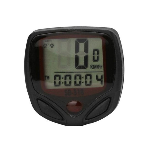 Bicycle Cycling LCD Speedometer Bike Speed Computer Home, Travel, Outdoor, etc Odometer 100g Meter English #613247