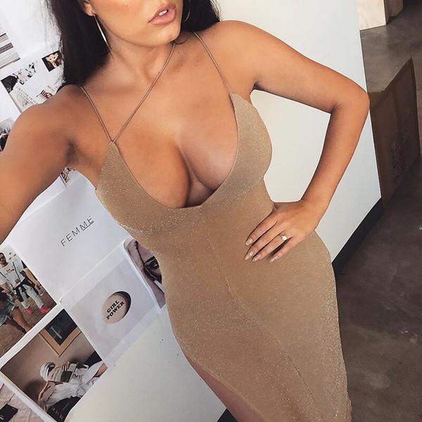 Женское платье 2019 лето новый сексуальный ремень платье ночной клуб стиль V-образным вырезом длинное платье мода крест ремень платья