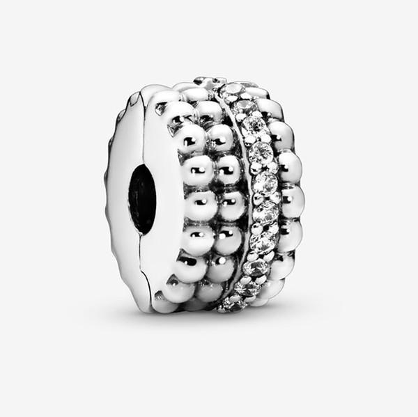 Perlen Clip Charms New Sterling Silber 925 solide Perlen Rose Fit für Pandora Original Damen Bettelarmband DIY Schmuck