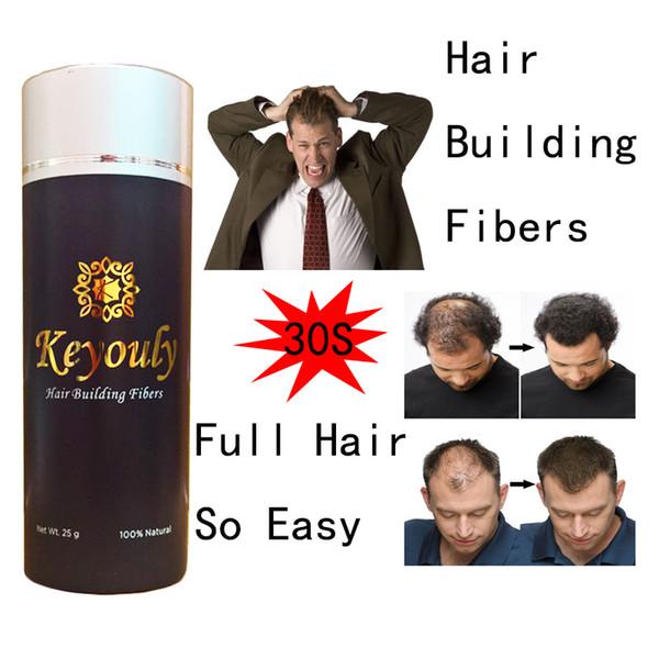 top popular OEM natural colored Keratin Fibers hair fiber 25g 27.5g 50g magic hair building fiber cover bald area hair loss concealer 2020