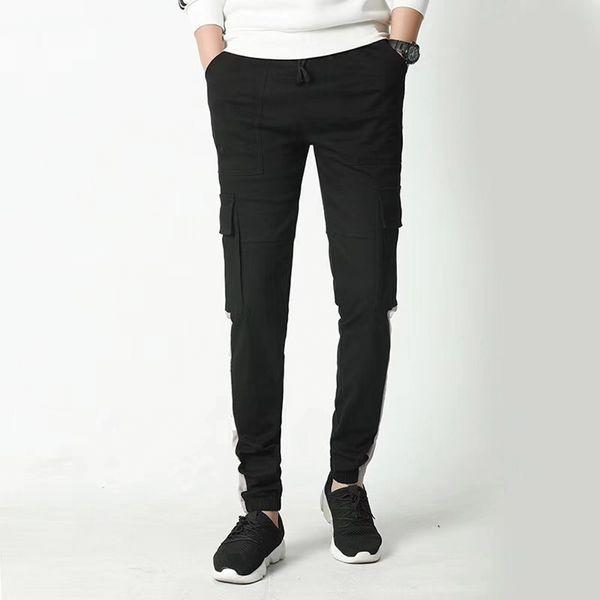 New men's long pants fashion jogging pants brand men's zipper trousers men's trousers irregular jogging pants