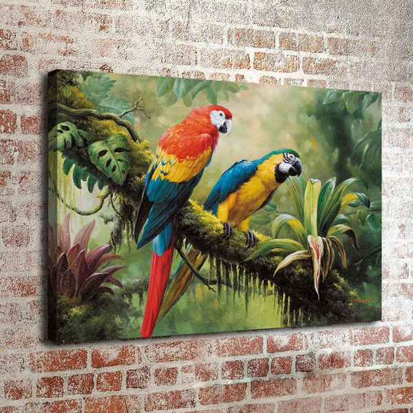 Parrot Animal Poster,Home Decor HD Printed Modern Art Painting on Canvas (Unframed/Framed)