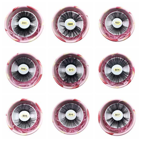 3D Faux Nerz Wimpern 25mm Falsche Nerz Wimpern 100% Handgemachte Natürliche Lange Gefälschte Wimpern Mit Geschenkbox RRA1164