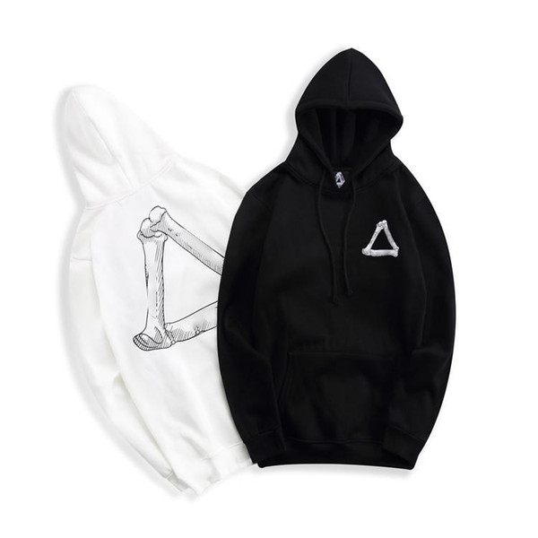 PALACES designer hoodie Triangle bone print men hoodies couple Street skateboard brandsweater high quality Plus pullover cosy loose S-XXL